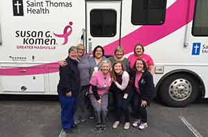 Susan G. Komen, IHC, Integrated Health Cooperative, Susan G. Komen Foundation, Saint Thomas Health, mobile mammograms
