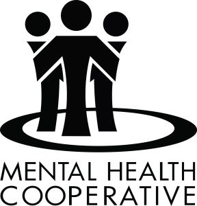 Mental Health Cooperative Black Stacked Logo
