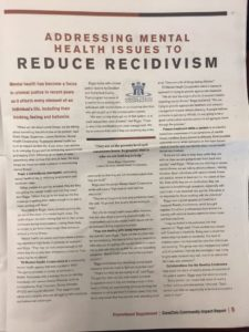 Nashville Business Journal, mental health issues, reduce recidivism